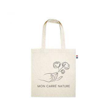"""Tote bag 100 % coton """"Mon Carré Nature"""""""